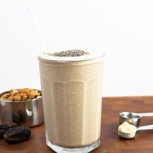 Cream smoothie named Malted Shake
